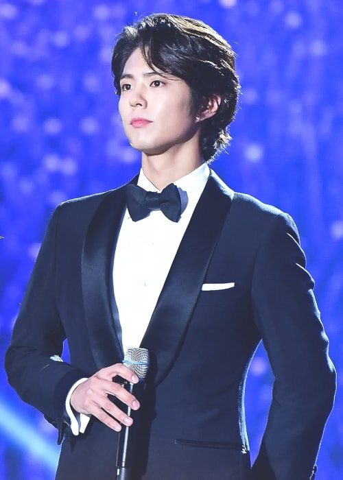 Park Bo-gum as seen in a picture taken during an event in May 2018