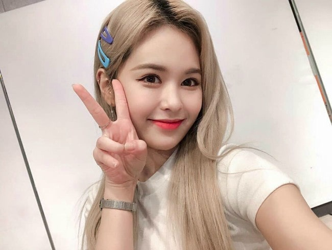 E:U in a selfie as seen in July 2019