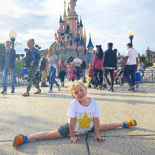 Parker Ballinger at Disneyland Paris as seen in October 2018