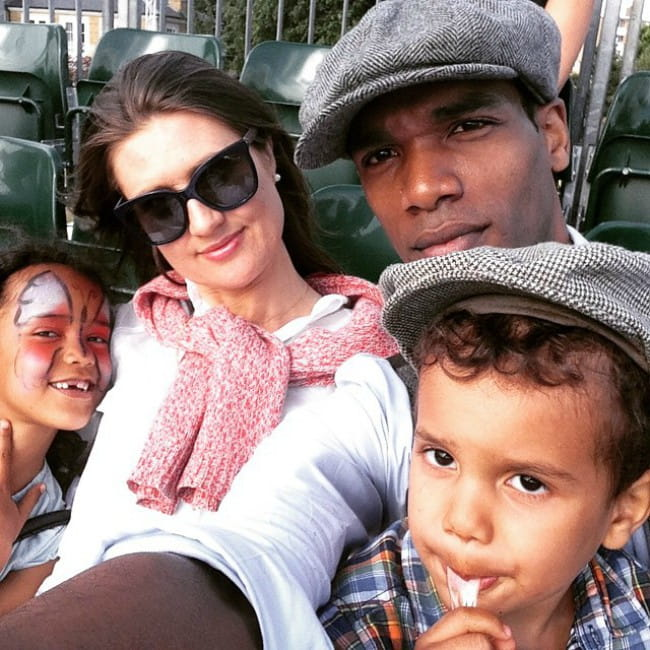 Parker Sawyers with his family as seen in June 2015