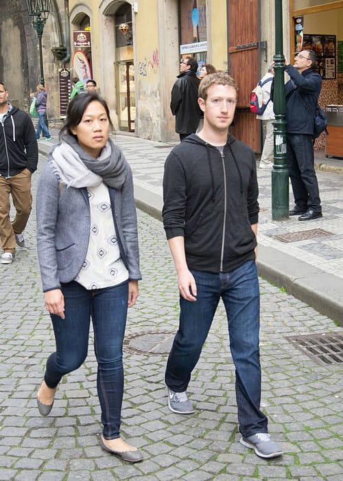 Priscilla Chan and Mark Zuckerberg in Prag in May 2013