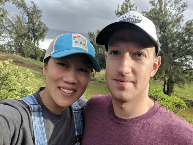 Priscilla Chan and Mark Zuckerberg in a selfie as seen in June 2019