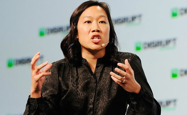 Priscilla Chan speaking during TechCrunch Disrupt in September 2018