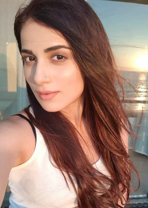 Radhika Madan in an Instagram selfie as seen in February 2018