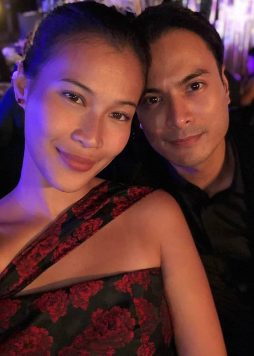 Rafael Rosell as seen while posing for a selfie along with Valerie Gomez Chia in August 2019