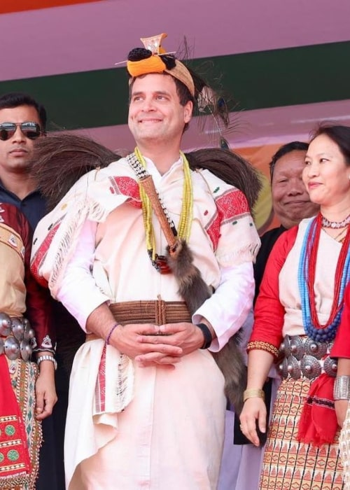 Rahul Gandhi as seen in a picture taken during his meet with the citizens on Arunachal Pradesh in March 2019