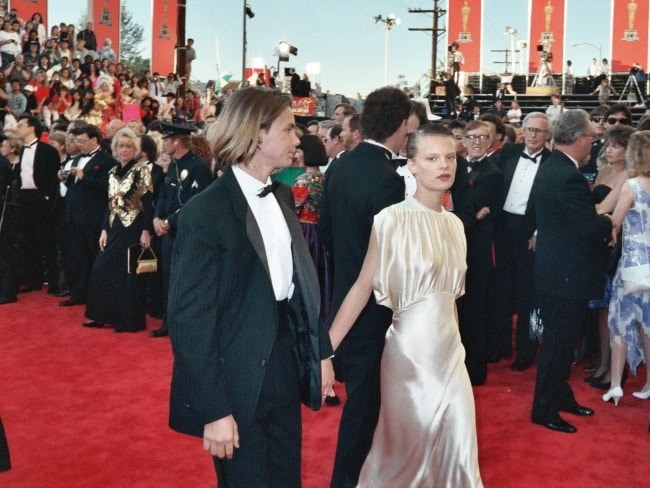 River Phoenix as seen alongside Martha Plimpton in a picture taken on the red carpet at the 61st Annual Academy Awards on March 29, 1989