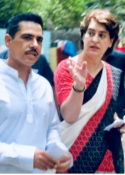 Robert Vadra and Priyanka as seen in a picture that was uploaded to Robert's account in July 2019