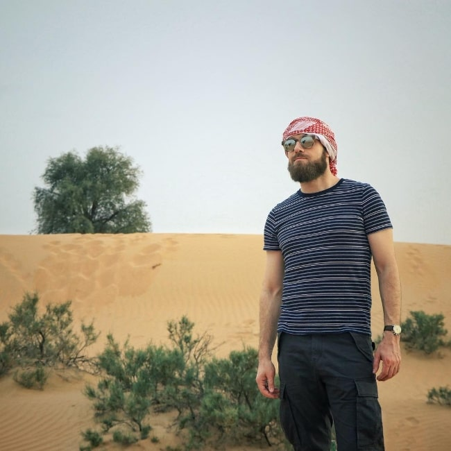 Ross Marquand as seen while posing for a picture in Dubai, United Arab Emirates in April 2019