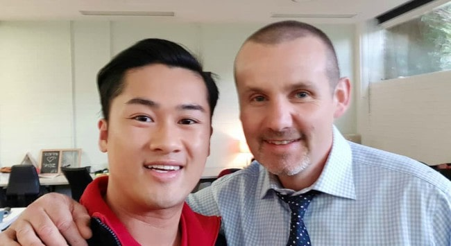 Ryan Moloney (Right) and Robert Pham in a selfie in October 2018