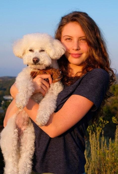 Sadie Radinsky celebrating International Dog Day on August 27, 2019