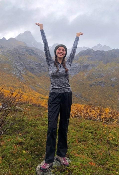 Sadie Radinsky enjoying her autumn in the ARCTIC CIRCLE in September 30 2019.