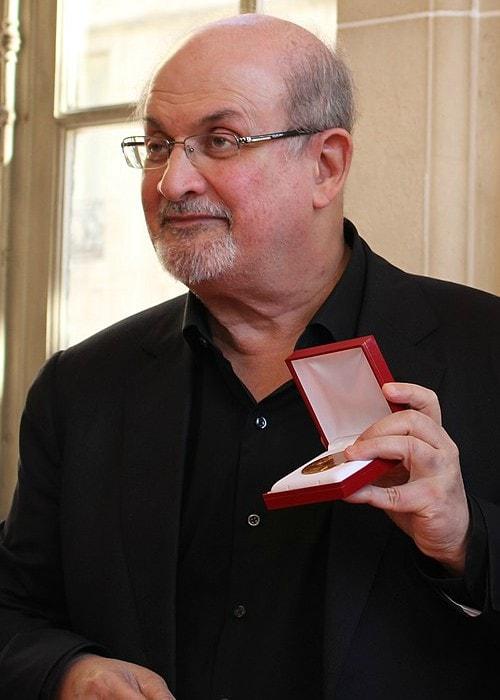 Salman Rushdie at Le Livre sur la Place as seen in September 2018