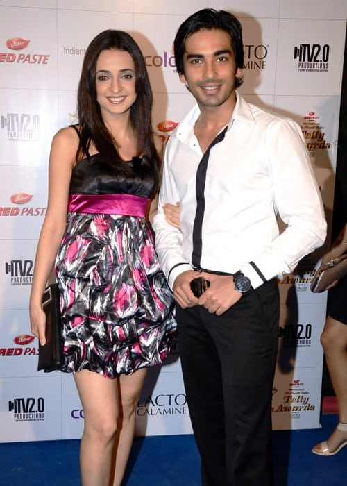 Sanaya Irani and Mohit Sehgal as seen in June 2012