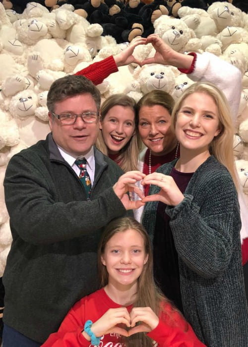 Sean Astin with his family as seen in December 2018