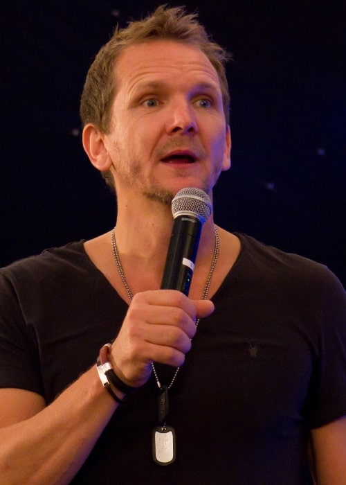 Sebastian Roché as seen while speaking during an event in West Midlands, England, United Kingdom, on June 16, 2013
