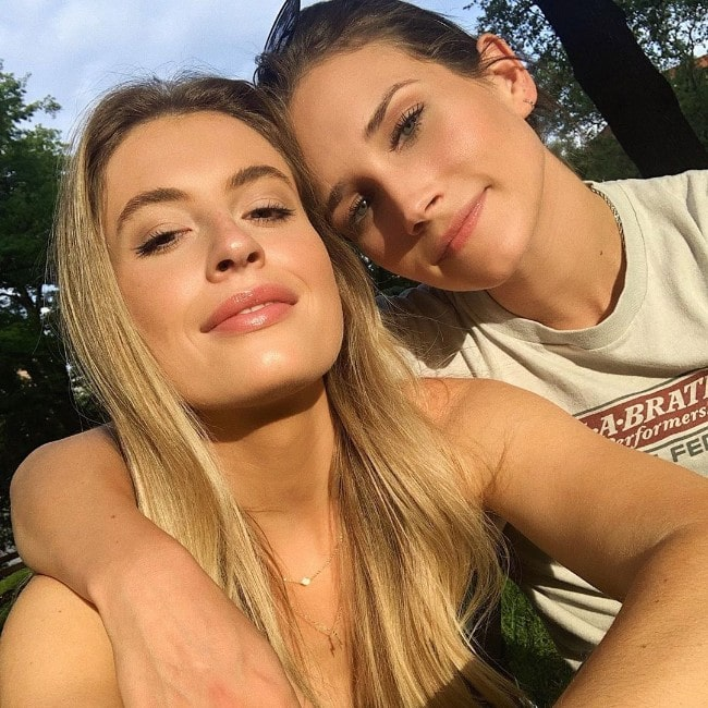 Shannon Beveridge with her girlfriend Cari Fletcher as seen in August 2019