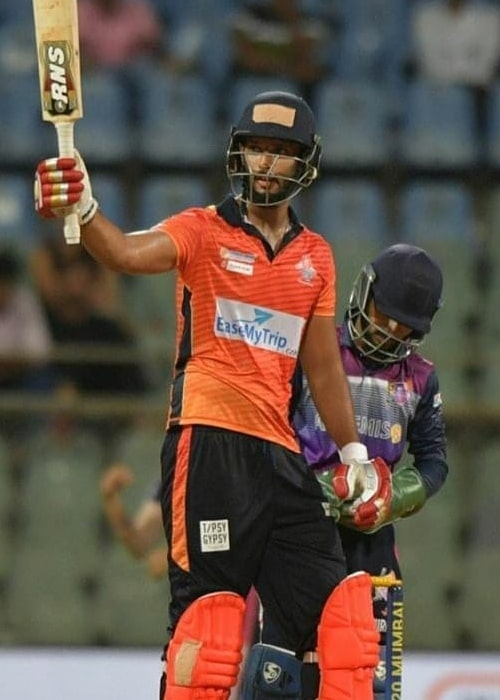 Shivam Dube as seen in a picture taken during the the Shivaji Park Lions Vs the NaMo Bandra Blasters match at the T20 Mumbai League in May 2019