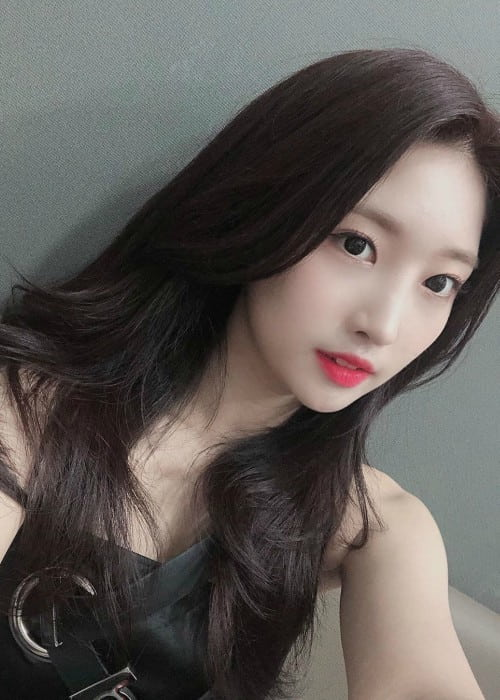 Sihyeon in a selfie in August 2019