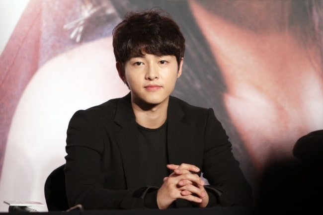 Song Joong-ki as seen in a picture taken at 'The Innocent Man' production presentation in September 2012