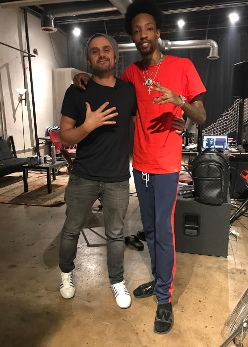 Sonny Digital (Right) as seen while posing for a picture alongside Gary Vaynerchuk in Atlanta, Georgia, United States in August 2018