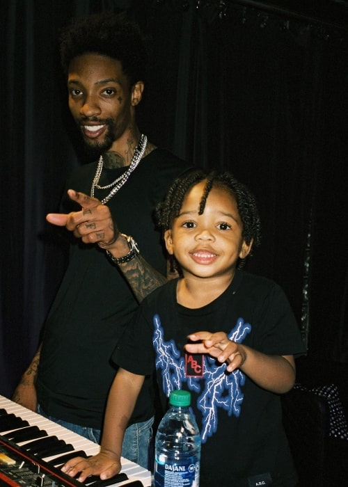 Sonny Digital as seen in a picture along with his son at Rollin Records in September 2019