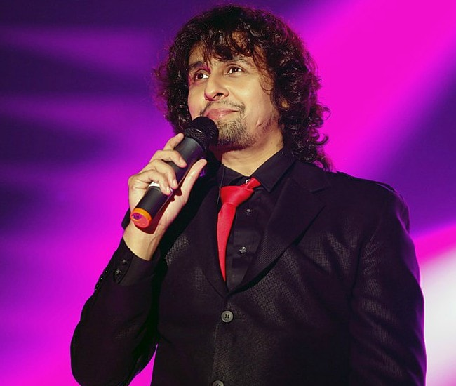 Sonu Nigam during a performance in December 2012