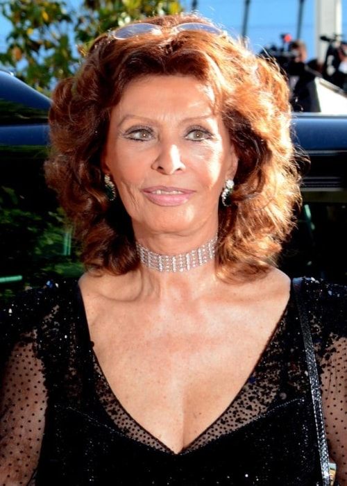 Sophia Loren as seen in a picture taken at the Cannes Film Festival in May 2014