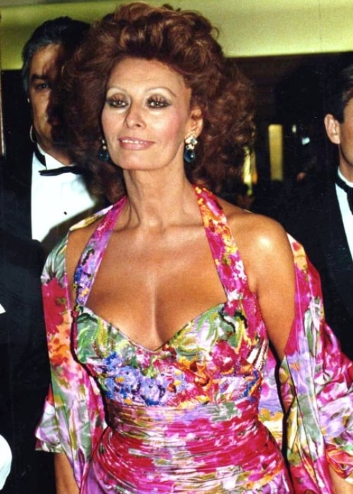 Sophia Loren as seen in a picture taken in Paris at the César awards ceremony in 1991