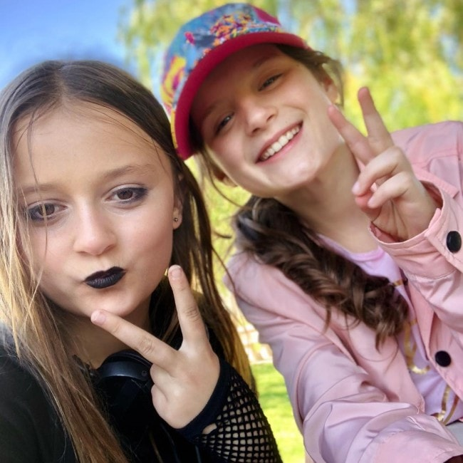 Sophie Fergi with Hayley Leblanc as seen in April 2018