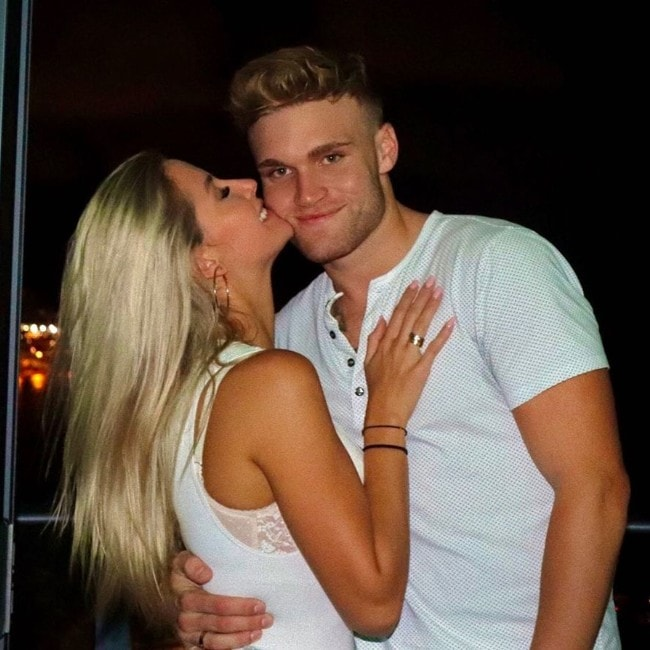 Tate Martell with his girlfriend as seen in November 2019
