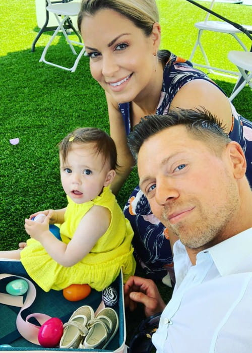 The Miz with his family as seen in April 2019