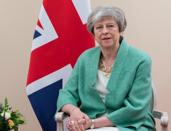 Theresa May as seen in June 2019