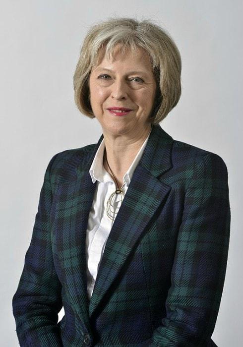 Theresa May as seen in May 2015