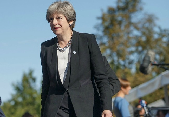 Theresa May as seen in September 2017