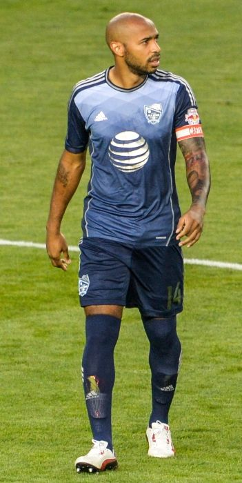 Thierry Henry playing for the New York Red Bulls in Kansas City in 2013