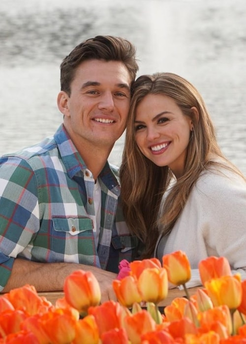 Tyler Cameron as seen in a picture with his beau Hannah Brown who he met on the fifteenth season of The Bachelorette in 2019