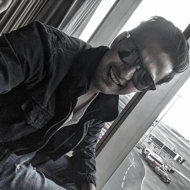 Vatsal Sheth in a selfie at Mumbai Airport in October 2019