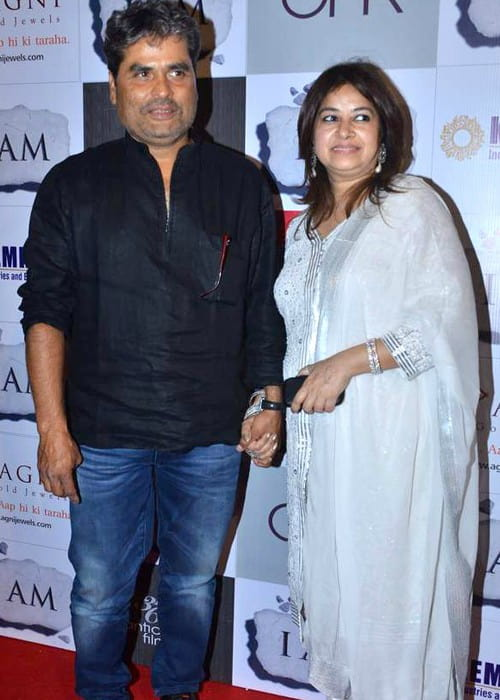 Vishal Bhardwaj and Rekha Bhardwaj as seen in April 2012