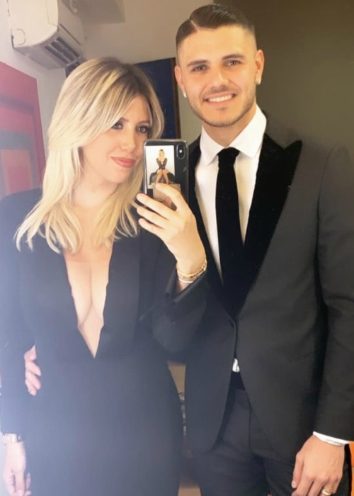 Wanda Nara and Mauro Icardi in a selfie in February 2019