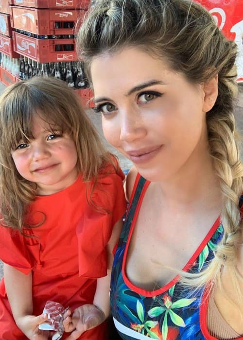 Wanda Nara with her daughter as seen in June 2019