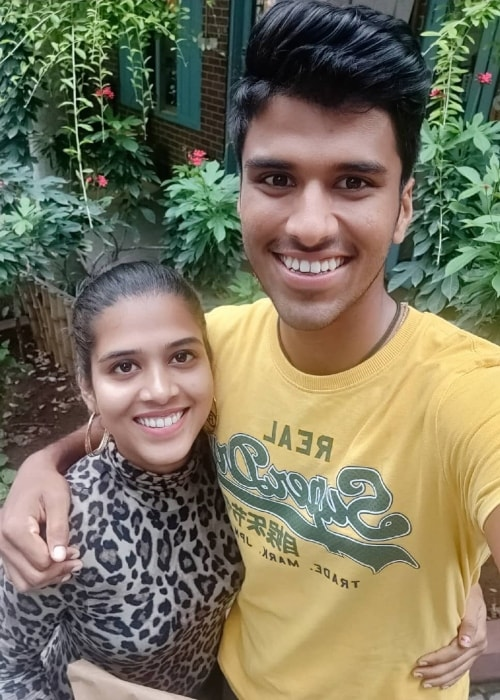 Washington Sundar as seen in a picture with his sister Shailaja Sundar taken in September 2019