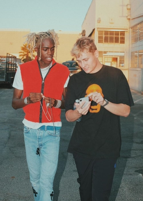 Yung Bans (Left) as seen in a picture along with Cole Bennett in November 2019