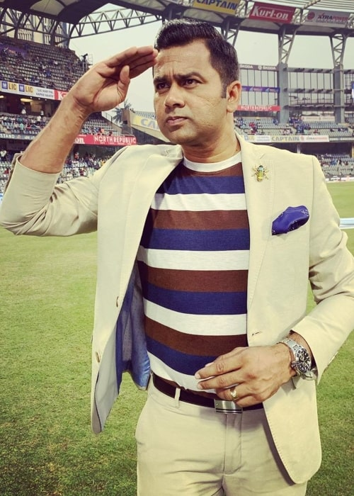 Aakash Chopra as seen in a picture taken at the Wankhede Cricket Stadium in Mumbai, Maharashtra in December 2019