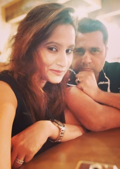 Aakash Chopra as seen in a selfie with his beautiful wife Aakshi Mathur in Mumbai in October 2019