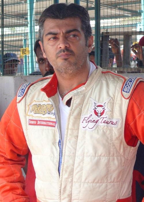 Actor Ajith Kumar at Irungattukottai Race Track 2010