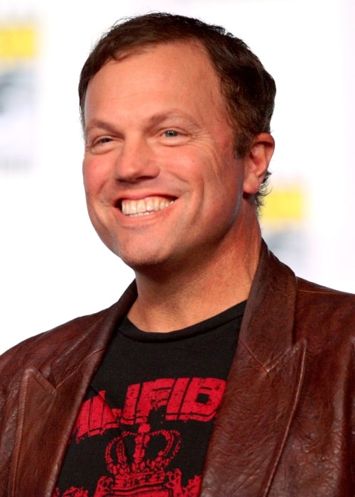 Adam Baldwin as seen while smiling in a picture taken at the 2012 Comic-Con in San Diego, California, United States
