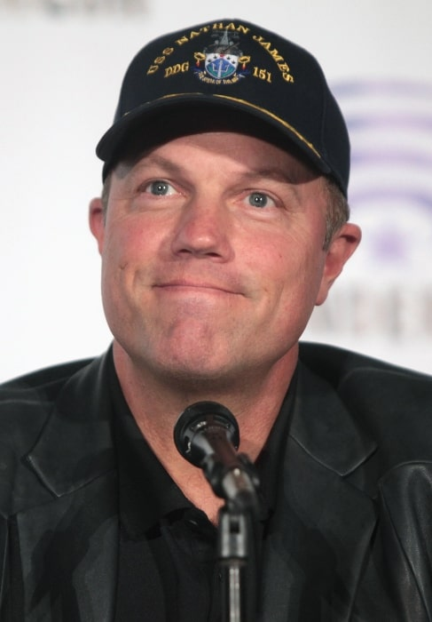 Adam Baldwin as seen while speaking at the 2016 WonderCon in Los Angeles, California, United States