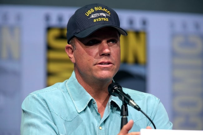 Adam Baldwin as seen while speaking at the 2017 San Diego Comic-Con International, for 'The Last Ship', at the San Diego Convention Center in San Diego, California, United States