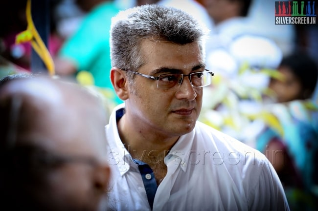 Ajith Kumar at voting for elections 2014
